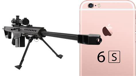 iphone 6s vs 50 cal