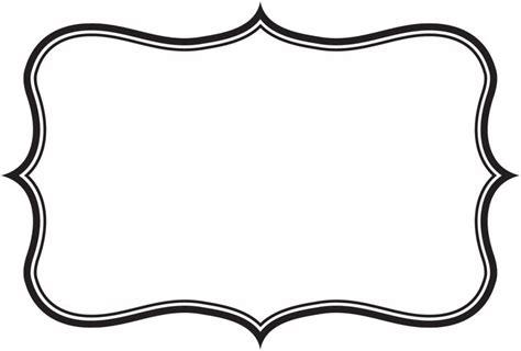 Label Frame Clipart 85 Label Border Templates