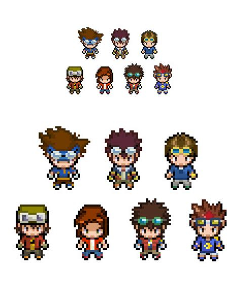 Adventure Black Moving Blue digimon characters overworld sprites by lucky96u on
