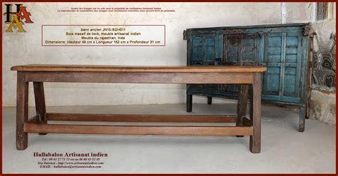 Banc Bois Ancien by Banc Indien Ancien Jn10 Sgh011 Meubles Indiens Artisanat