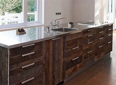 reclaimed wood kitchen cabinets recycled cabinet doors worth the money savings
