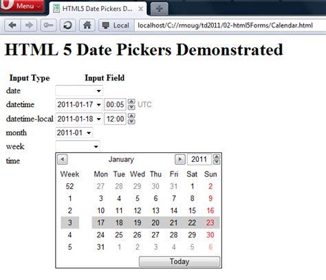 java swing date time picker html5 date picker javaworld