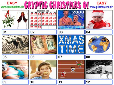 picture christmas song quiz cryptic