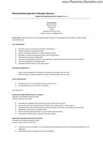 Merchandising Manager Resume by Merchandising Resume Operation Manager Resumes Design