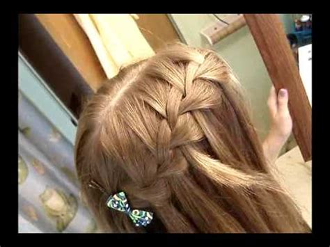 hairstyles to do self fun and easy hairstyle tutorial waterfall french braid