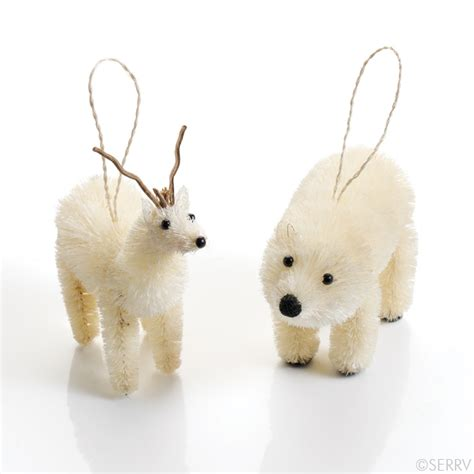 animal ornaments arctic animal ornaments