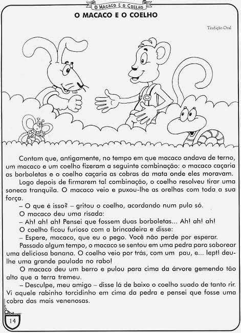 Quantos parágrafos tem 👍 no texto 'o macaco e o coelho'