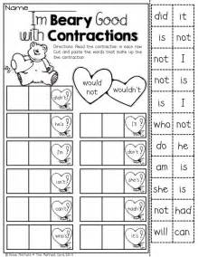 second grade contraction worksheet search results