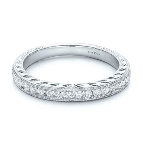 engraved wedding band with matching engagement ring kirk