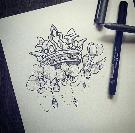 tattoo queen crown i absolutely love this i think i need something like this