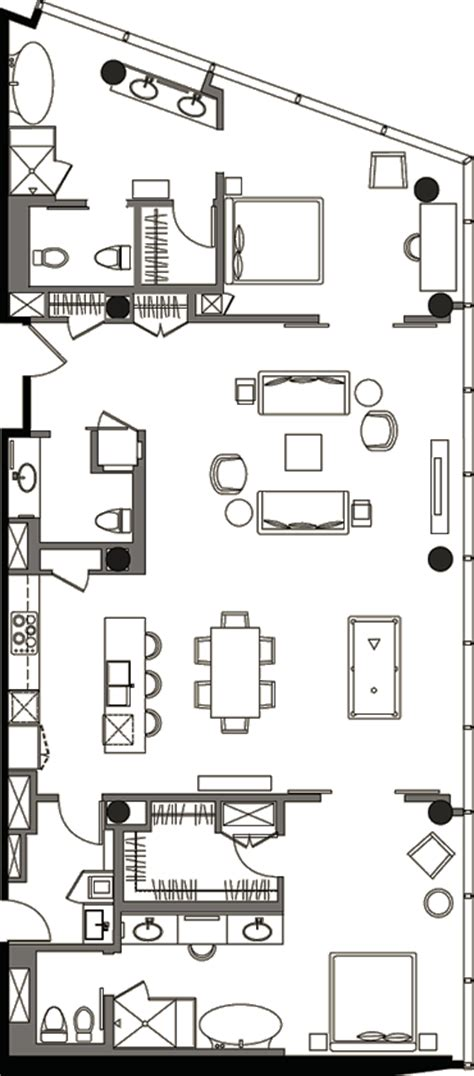 veer towers floor plans penthouse 2 bedroom 187 floor plan 1b 187 veer towers 187 citycenter