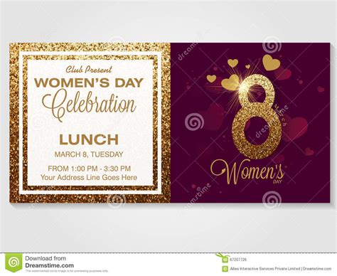design an invitation card for women s day invitation card for women s day celebration stock