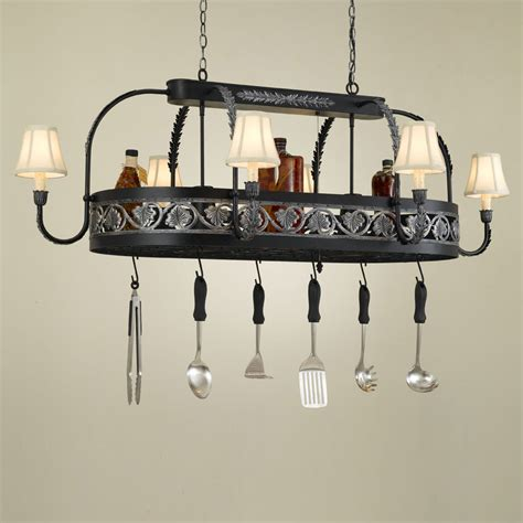 Kitchen Island Pot Rack Lighting Hi Lite Manufacturing H 88y D 36 Quot Wide Pot Rack Kitchen Island Light Hlt H 88y D