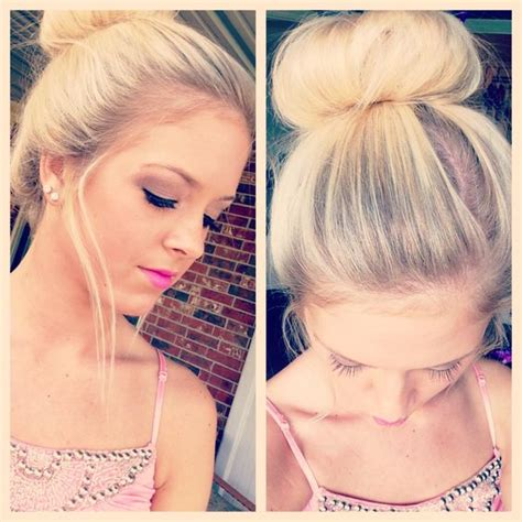 thinning bun donuts buns and hair donut on pinterest