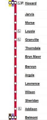 chicago redline map cta line stops chicago il