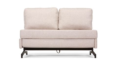 armless sofa beds motti armless sofa bed in pipit beige made com