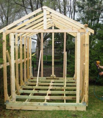 build  simple wood storage shed   build