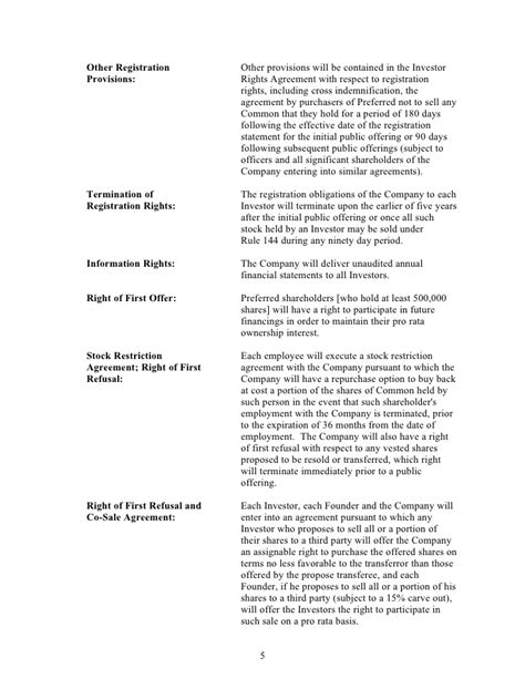 Sle Silicon Valley Series A Term Sheet From Dla Piper Svnewtech Series A Term Sheet Template
