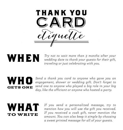 thank you card etiquette wedding ideas - Wedding Thank You Card Etiquette For Gift Cards