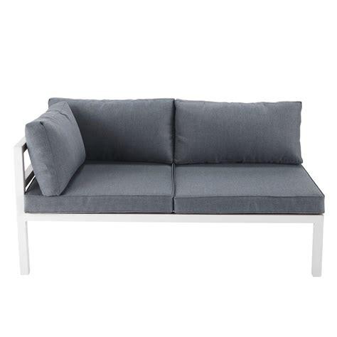 divanetto da giardino divanetto da giardino bianco in alluminio con bracciolo