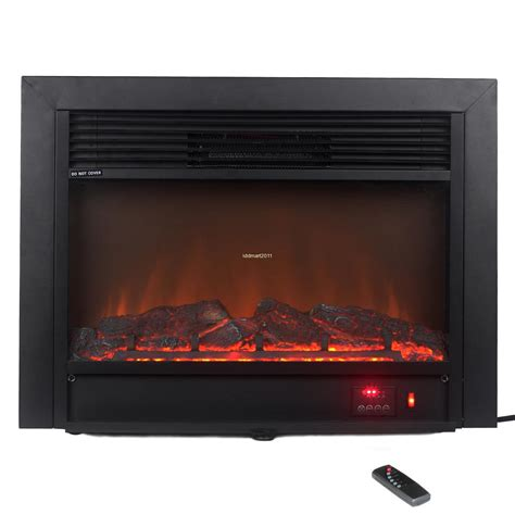 Electric Fireplace Heater Insert 1500w Electric Firebox Fireplace Embedded Insert Heater Remote Ebay