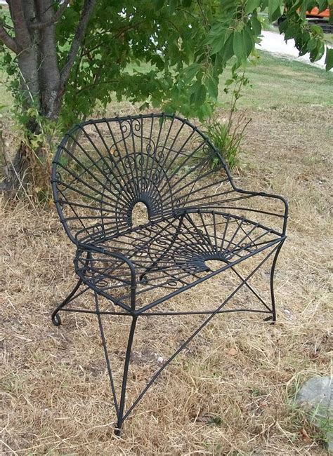 Wrought Iron Antique Style Settee Metal Patio Furniture Vintage Wrought Iron Patio Furniture