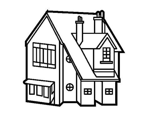 imagenes para pintar la casa dibujo de casa unifamiliar para colorear dibujos net
