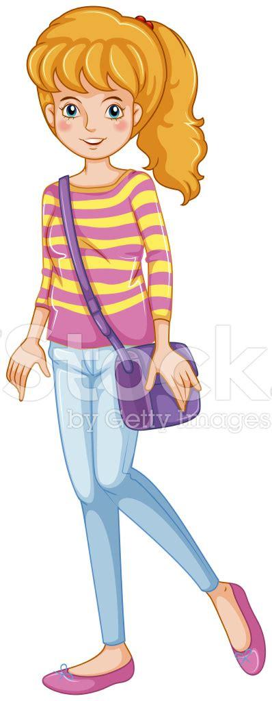 Slingbag Purple fashionable with a purple sling bag stock photos