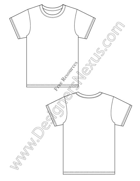 V2 Free Blank T Shirt Design Template Vector Flat Sketch Designers Nexus T Shirt Template Sketch