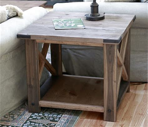 white rustic x end table diy projects
