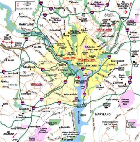 district de columbia carte