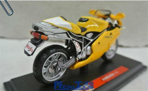Maisto Motor Ducati Scrambler Yellow Skala 118 yellow 1 18 scale maisto diecast ducati 749s motorcycle