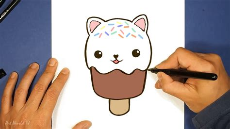 imagenes de helados kawaii para dibujar how to draw kawaii cat ice cream como dibujar helado