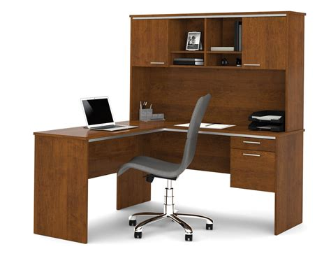 L Shaped Desk Hutch Bestar 90427 Flare L Shaped Computer Desk With Hutch