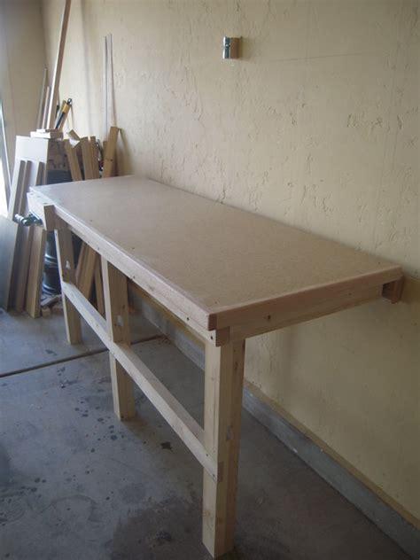 fold down work bench fold down work bench for my garage work shop by