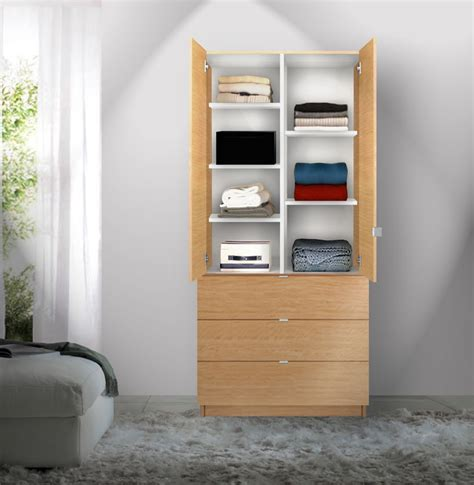 Wardrobes With Shelves And Drawers by Alta Wardrobe Armoire Adjustable Shelves 3 Drawers Contempo Space