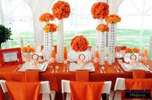 orange and white event decor posh petals orange
