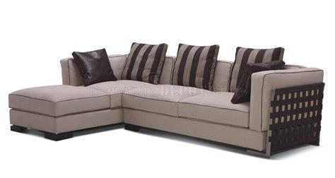 beige fabric sectional sofa beige fabric 8122 modern sectional sofa