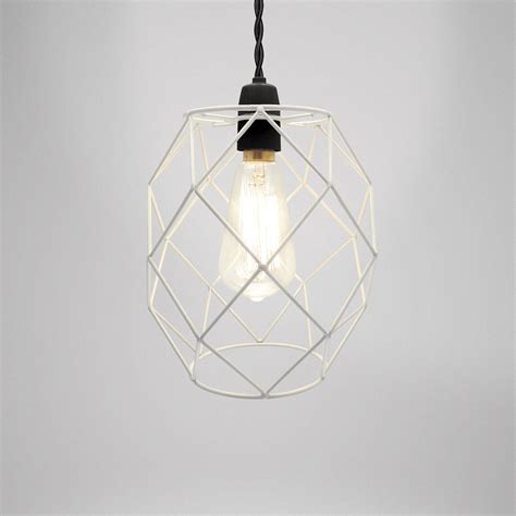 Wire Pendant Light Modern Industrial Black White Copper Metal Cage Wire Pendant Light Chandelier Ebay