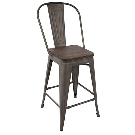 bar stools high back oakland antique espresso high back counter stool eurway