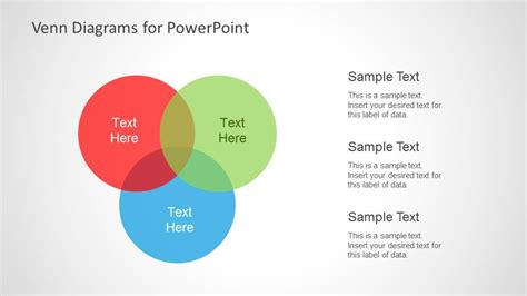 Colorful Venn Diagrams For Powerpoint Slidemodel Venn Diagram Template For Powerpoint