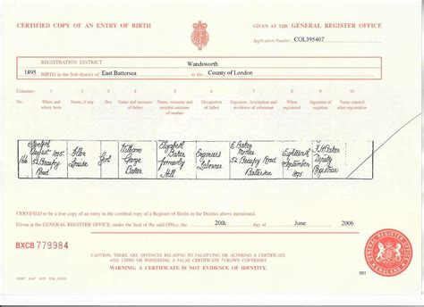 uk certificate template birth certificate uk sle images certificate