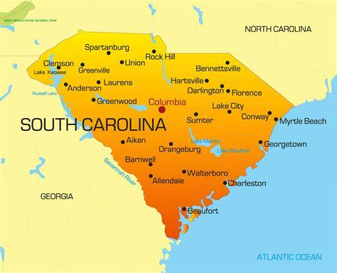south carolina on map of usa south carolina map guide of the world