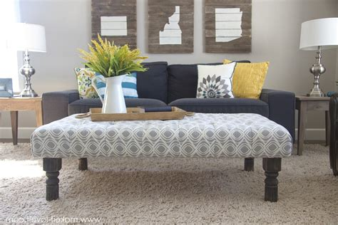padded ottomans round upholstered coffee table best home design 2018
