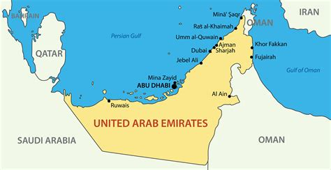 arab emirates map united arab emirates yacht charter guide yacht charter fleet