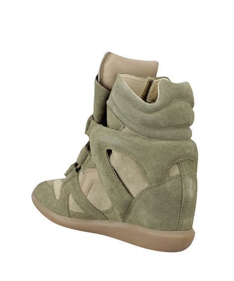marant green sneakers 201 toile marant bekett suede high top wedge sneakers