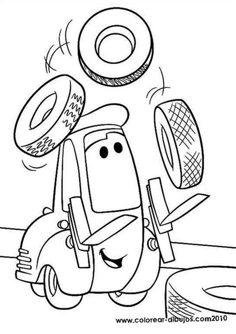 dibujos para colorear de cars rayo mcqueen