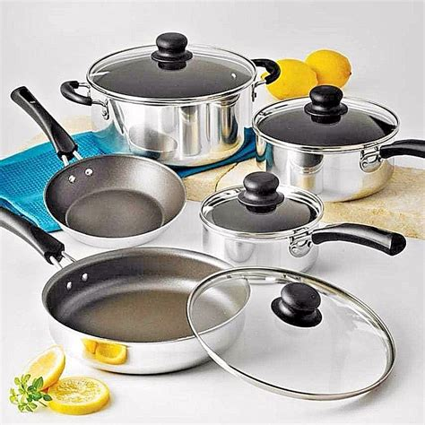 kitchen pots cookware set cooking nonstick pots pans 9 piece kitchen