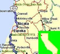 eureka oregon map oregon map
