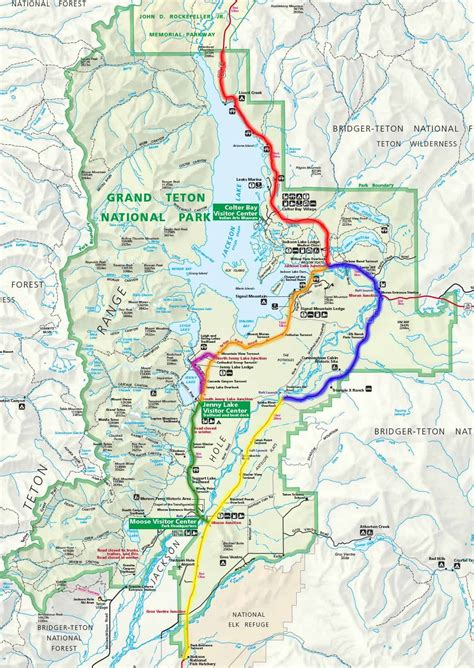 Grand National Park by Grand Teton National Park Scenic Drives Locator Map